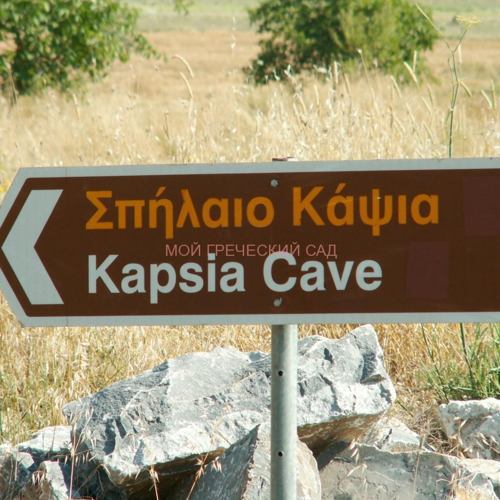 Указатель к пещере Капсья