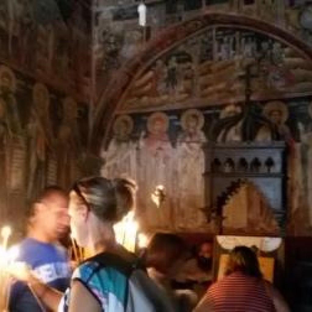 фрески в греческом монастыре фото
